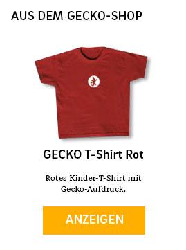 Gecko T-Shirt rot