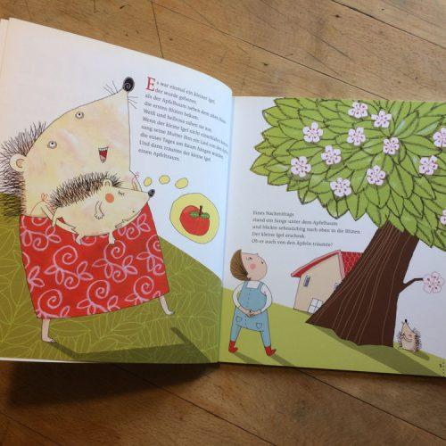 Der kleine Igel und der Apfelbaum, Illustration Mascha Greune