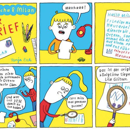 Mascha und Milan – Comic von Tanja Esch – Gecko 69