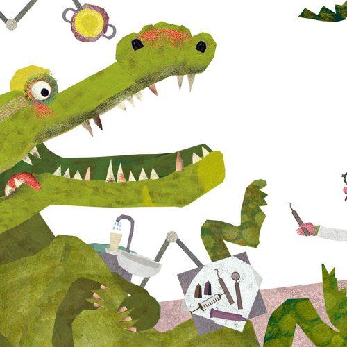 Das Krokodil beim Zahnarzt