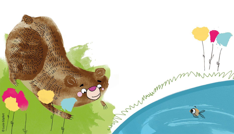 Vom Wünschen – Illustration von Lucie Göpfert