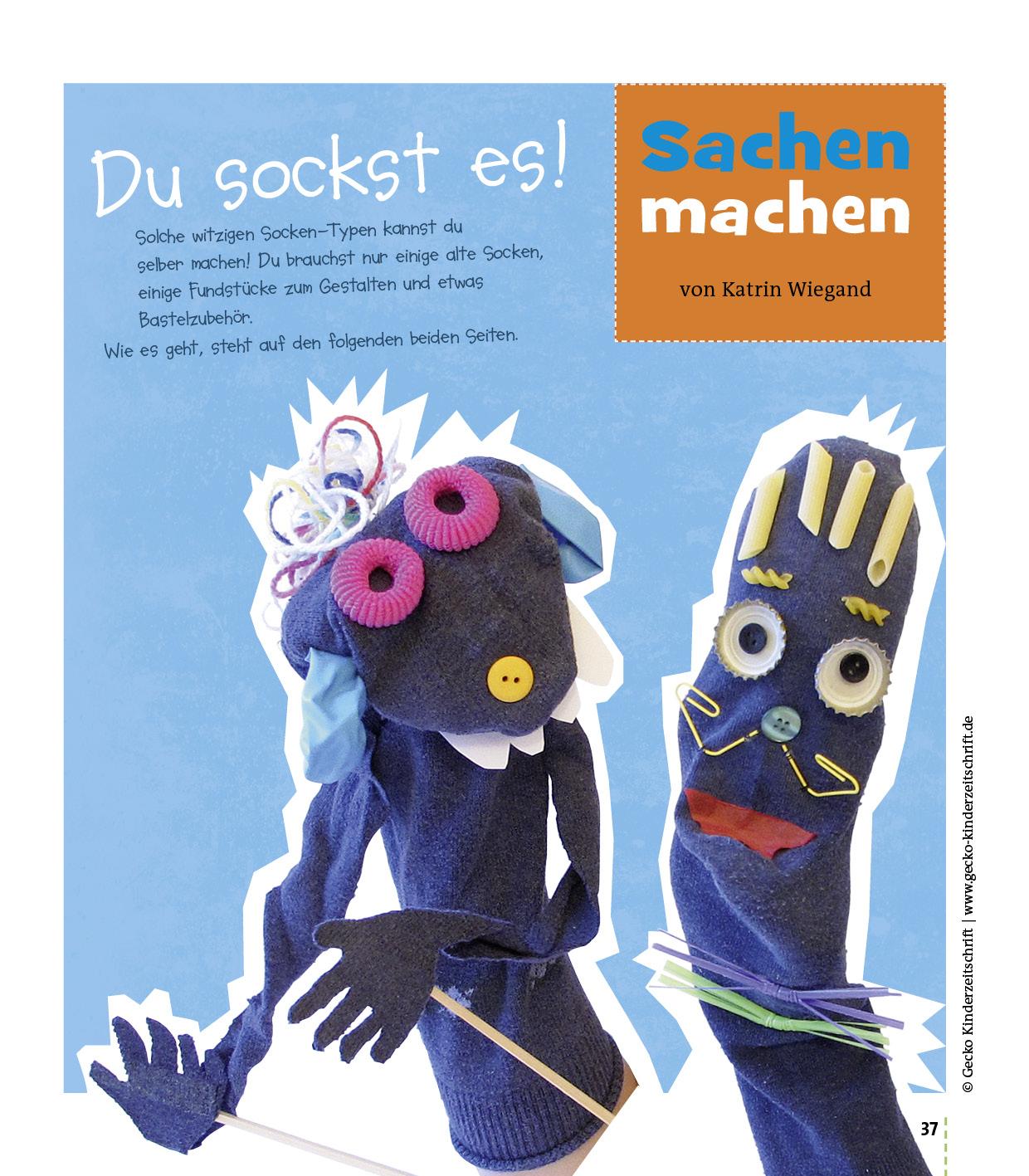 Socken-Spielfiguren