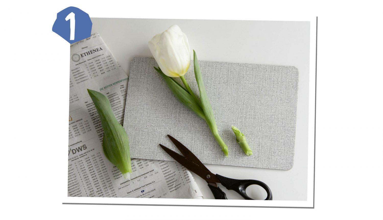 Blumen zuschneiden